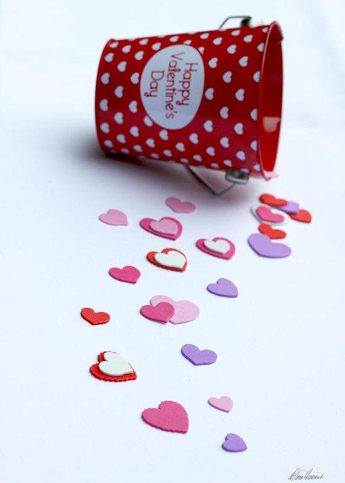 Valentines Day Greeting Card featuring the photograph Bucket Of Hearts by Diana Haronis