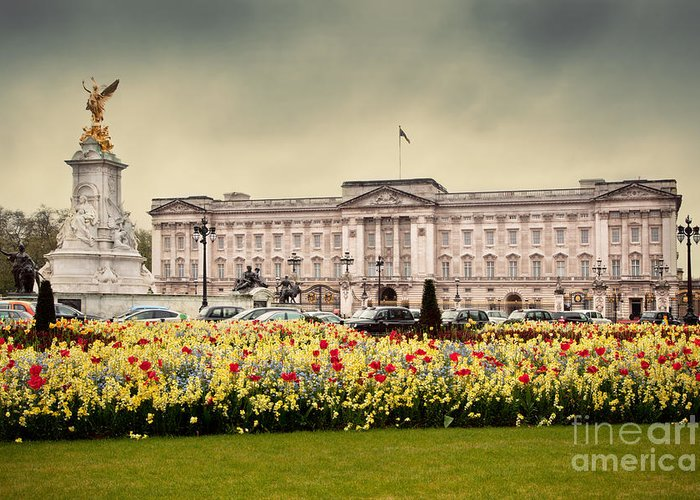 Buckingham Greeting Card featuring the photograph Buckingham Palace In London Uk by Michal Bednarek