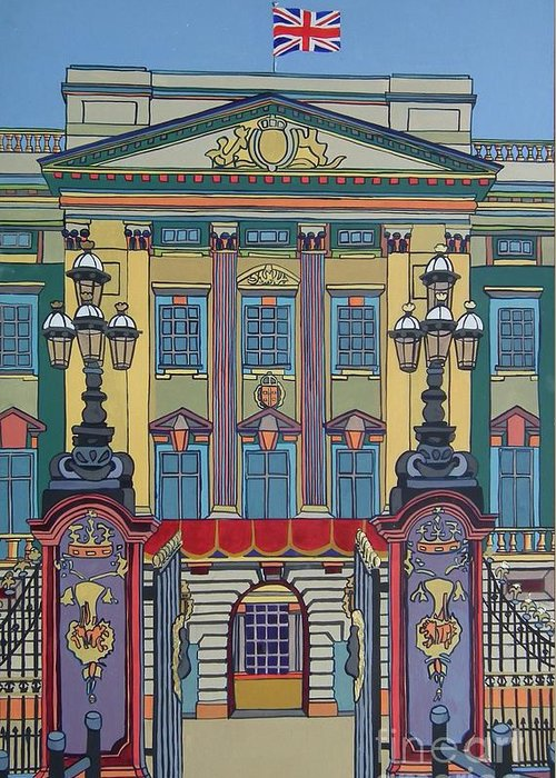 Buckingham Palace Greeting Card featuring the painting Buckingham Palace by Nicky Leigh