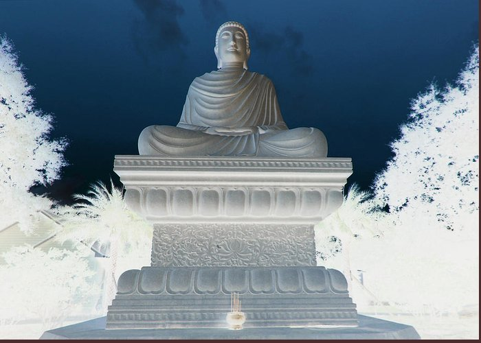 White Sands Greeting Card featuring the photograph Buddha In Enlightenment II by DM Photography- Dan Mongosa