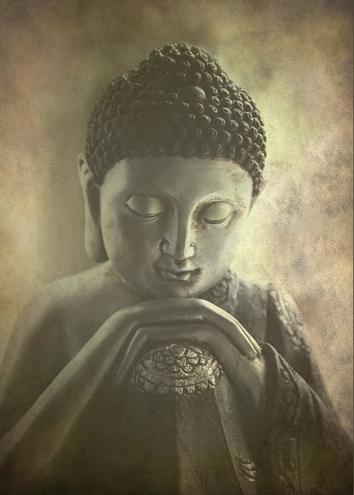 Ancient Greeting Card featuring the photograph Buddha by Madeleine Forsberg
