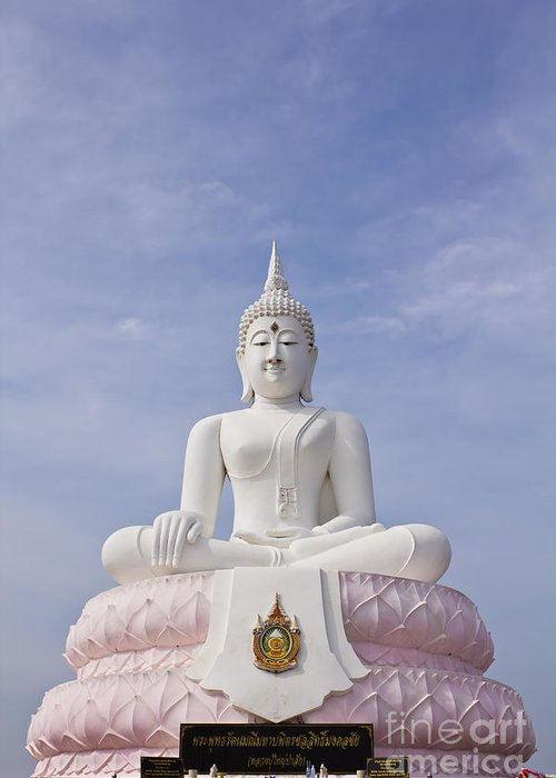 Thailand Greeting Card featuring the photograph Buddha Statue by Tosporn Preede