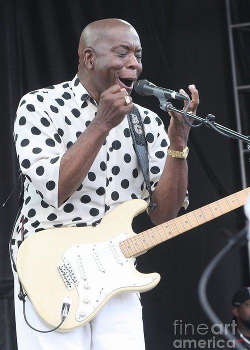 Singer Greeting Card featuring the photograph Buddy Guy by Concert Photos