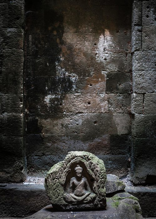 Tranquility Greeting Card featuring the photograph Budha by Www.sergiodiaz.net