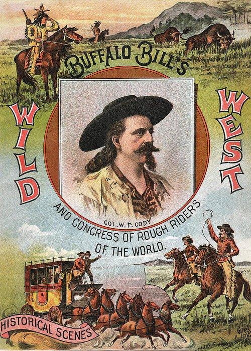 Buffalo Bills Wild West Greeting Card featuring the digital art Buffalo Bills Wild West by Unknown