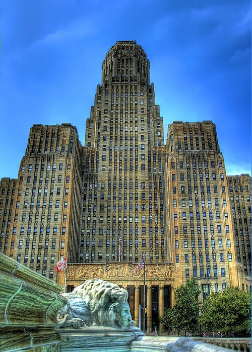 Buffalo Greeting Card featuring the photograph Buffalo City Hall by Tammy Wetzel