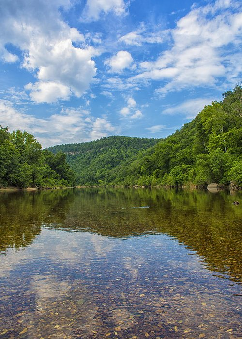 Arkansas Greeting Card featuring the photograph Buffalo River Majesty by Bill Tiepelman