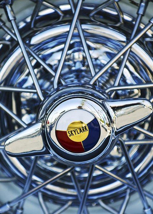 Car Greeting Card featuring the photograph Buick Skylark Wheel by Jill Reger