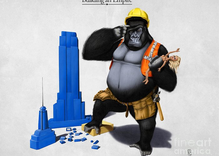 Illustration Greeting Card featuring the digital art Building An Empire by Rob Snow