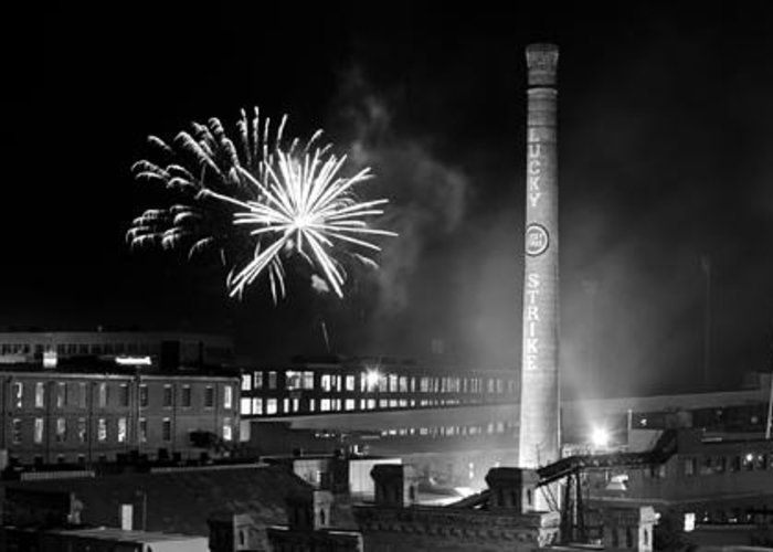 Bulls Greeting Card featuring the photograph Bull Durham Fireworks by Jh Photos