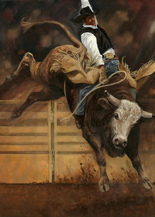 Bull Riding Greeting Cards