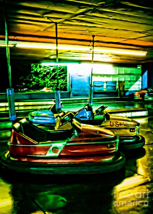 Bumper Cars Greeting Card featuring the photograph Bumper Cars by Colleen Kammerer