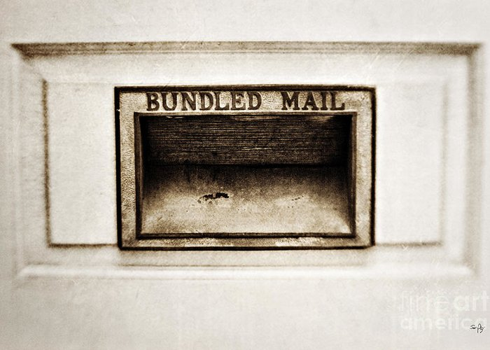 Mail Slot Greeting Card featuring the photograph Bundled Mail by Scott Pellegrin