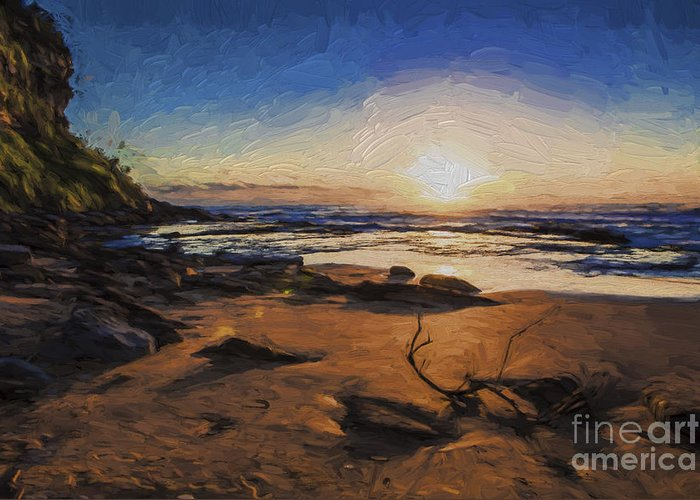 Bungan Beach Greeting Card featuring the photograph Bungan Beach sunrise by Sheila Smart Fine Art Photography