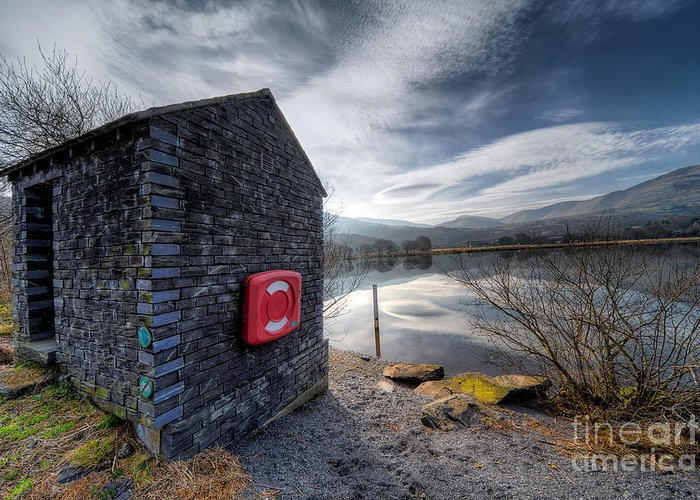 Architecture Greeting Card featuring the photograph Buoy At Lake by Adrian Evans