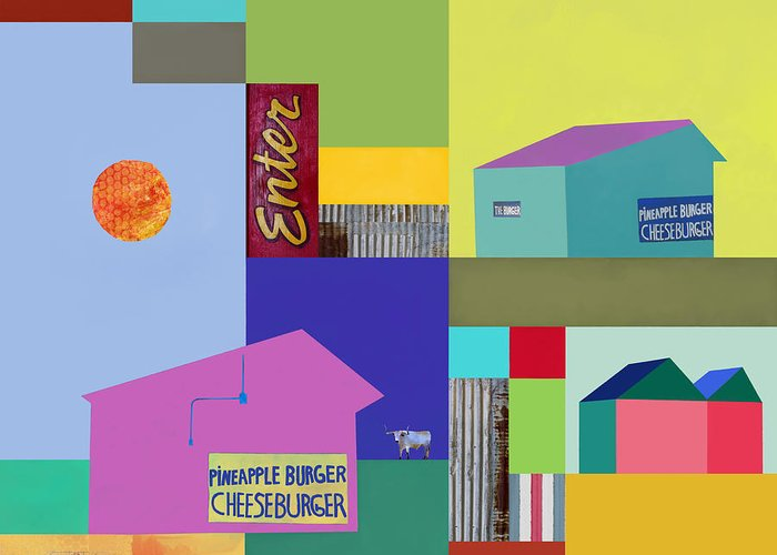 Burger Joint Greeting Card featuring the photograph Burger Joint #3 by Elena Nosyreva