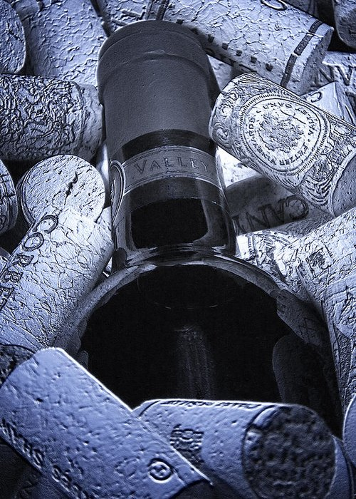 Wine Greeting Card featuring the photograph Buried Wine Bottle by Tom Mc Nemar