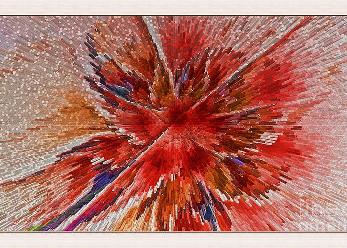 Fractal Greeting Card featuring the digital art Burning Passion Of Love by Deborah Benoit