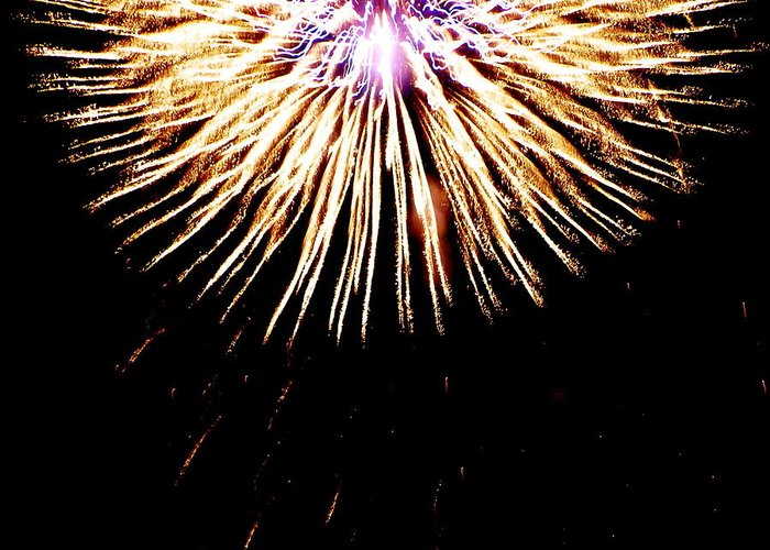 Greeting Card featuring the photograph Bursting by Heather Farr