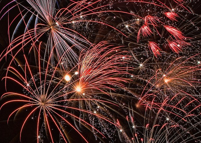 4th Of July Greeting Card featuring the photograph Bursting by Peter Tellone