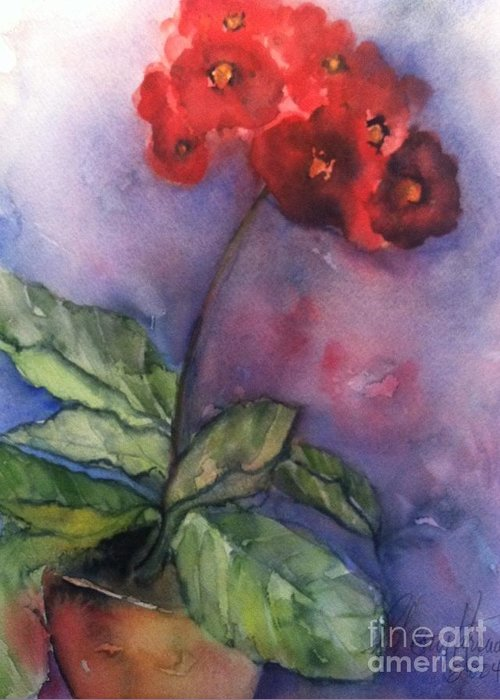 Orchards Greeting Card featuring the painting Bursting With Pride by Sherry Harradence