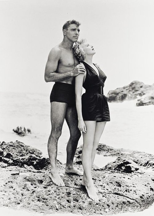 From Here To Eternity Greeting Card featuring the photograph Burt Lancaster In From Here To Eternity by Silver Screen