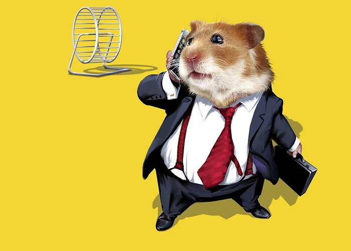 Hamster Wheel Greeting Card featuring the photograph Business Lifestyle, Conceptual Artwork by Science Photo Library