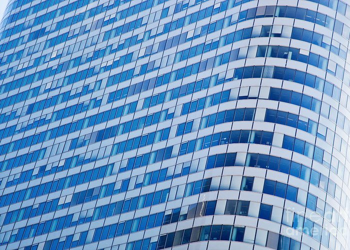 Skyscraper Greeting Card featuring the photograph Business Skyscrapers Modern Architecture by Michal Bednarek