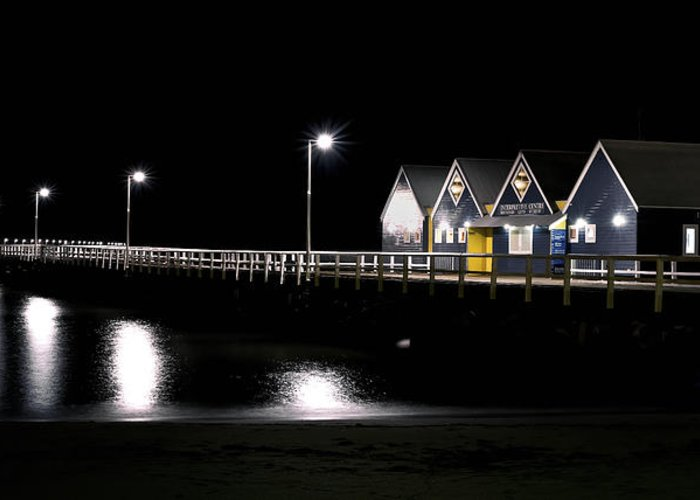 Busselton Greeting Card featuring the photograph Busselton Jetty by Niel Morley