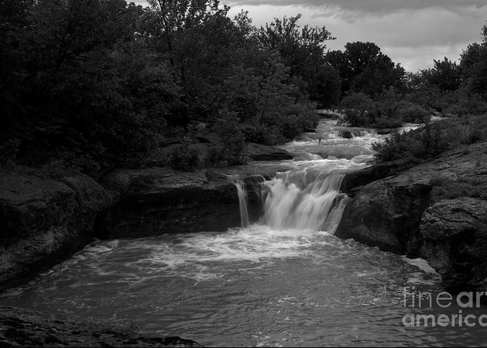 Landscape Greeting Card featuring the photograph Butcher Falls by Fred Lassmann