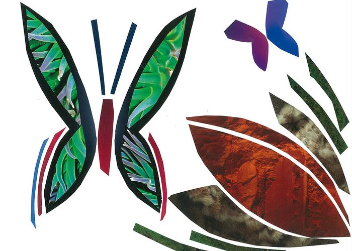 Butterflies Greeting Card featuring the mixed media Butterflies by Earl ContehMorgan