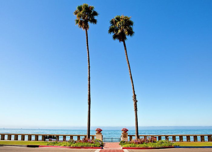 Tranquility Greeting Card featuring the photograph Butterfly Beach, Santa Barbara by Geri Lavrov