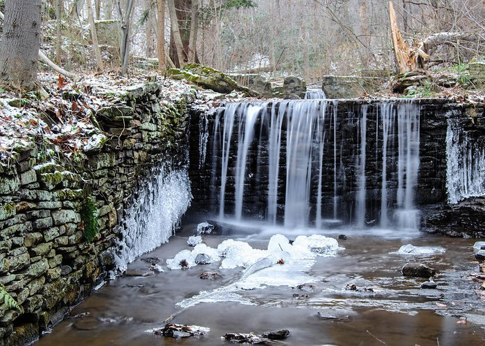 Buttermilk Falls Greeting Card featuring the photograph Buttermilk Falls 2 by Anthony Thomas