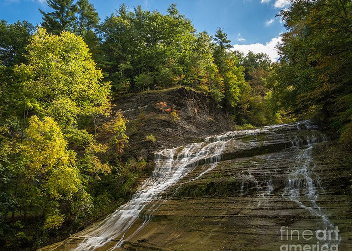 Buttermilk Falls State Park Greeting Card featuring the photograph Buttermilk Falls by John Naegely