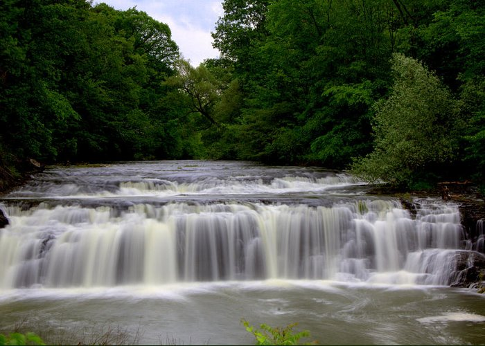 Buttermilk Falls Greeting Card featuring the photograph Buttermilk Falls by Pat Marzinsky