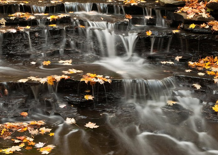 Buttermilk Falls Greeting Card featuring the photograph Buttermilk Falls by Shannon Workman