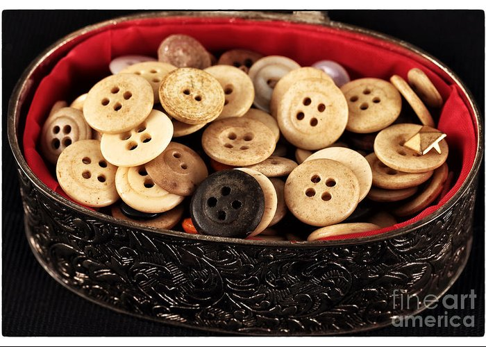 Button Treasures Greeting Card featuring the photograph Button Treasures by John Rizzuto