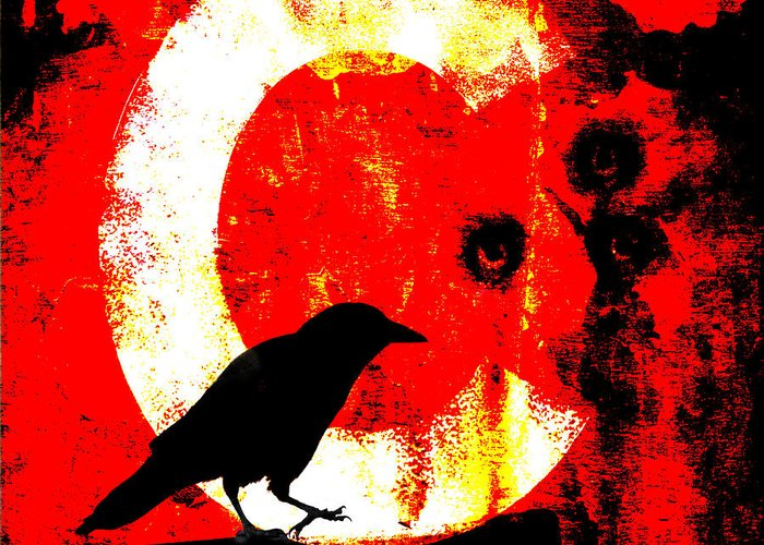 Crow Greeting Card featuring the photograph C Is For Crow by Carol Leigh