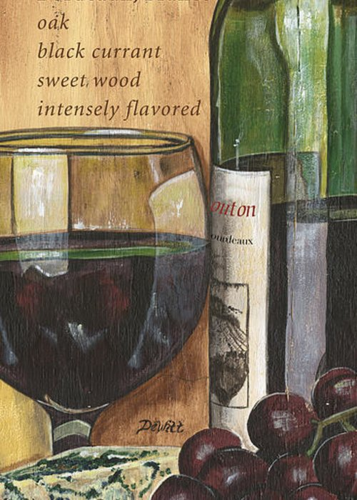 Cabernet Greeting Card featuring the painting Cabernet Sauvignon by Debbie DeWitt