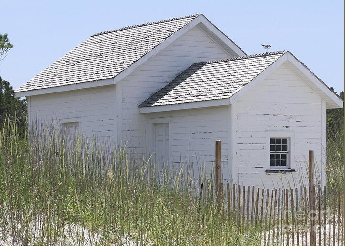 Obx Greeting Card featuring the photograph Cabin At Cape Lookout 2 by Cathy Lindsey