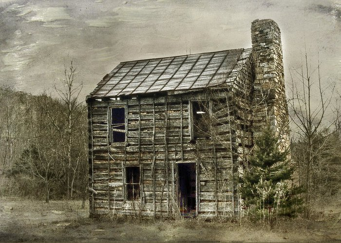 Cabin Greeting Card featuring the photograph Cabin By The Track Series II by Kathy Jennings