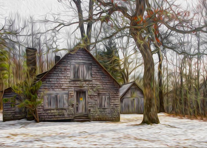 Appalachia Greeting Card featuring the photograph Cabin Dream by Debra and Dave Vanderlaan