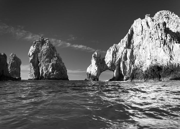 Los Cabos Greeting Card featuring the photograph Cabo In Black And White by Sebastian Musial