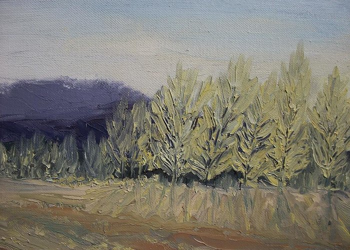 Oil Greeting Card featuring the painting Cades Cove by Dwayne Gresham
