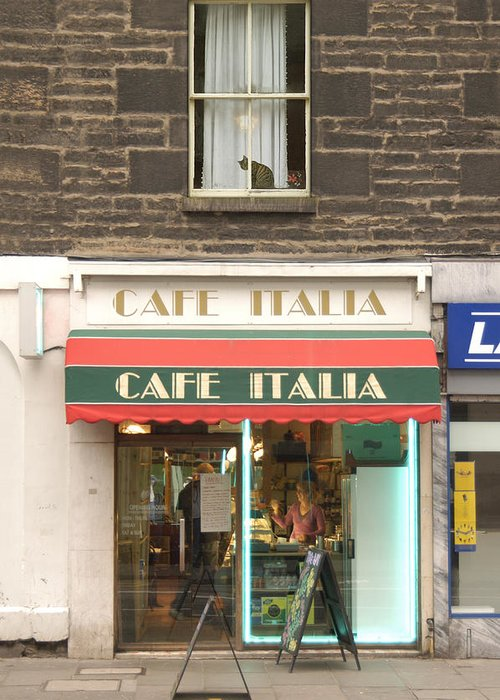 Cafe Greeting Card featuring the photograph Cafe Italia by Mike McGlothlen
