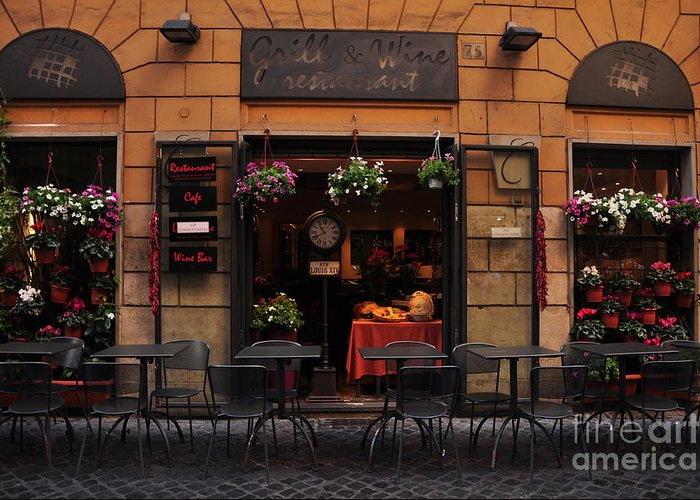 Cafe Greeting Card featuring the photograph Cafe by Katie Fitzgerald