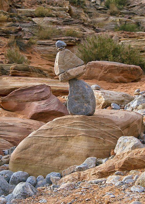Cairn Greeting Card featuring the photograph Cairn by Debby Richards