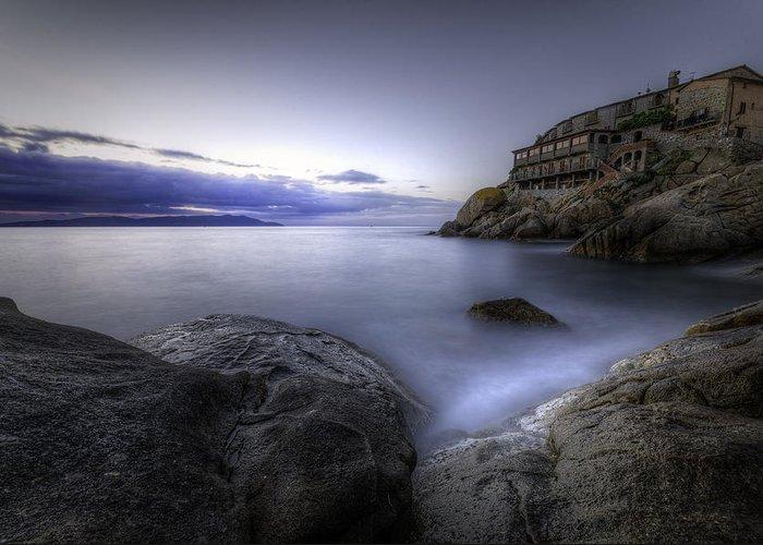 Sea Greeting Card featuring the photograph Cala Del Saraceno by Tommaso Di Donato
