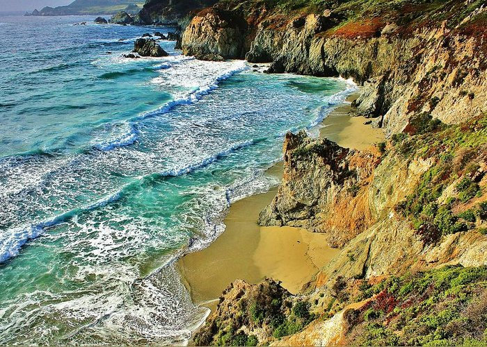 California Greeting Card featuring the photograph Californa Shore by Benjamin Yeager