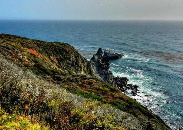 Big Sur California Greeting Card featuring the photograph California - Big Sur 005 by Lance Vaughn
